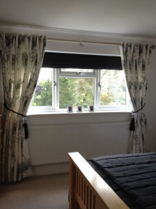 Eye Let Curtains and Contrasting Blinds - Wallpaper by Prestigious